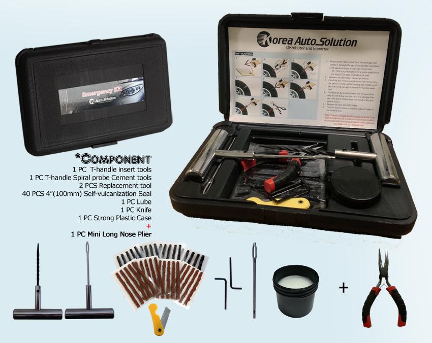 Car Tyre Repair Kit 4x4 4wd Tubeless Tire Puncture Repair